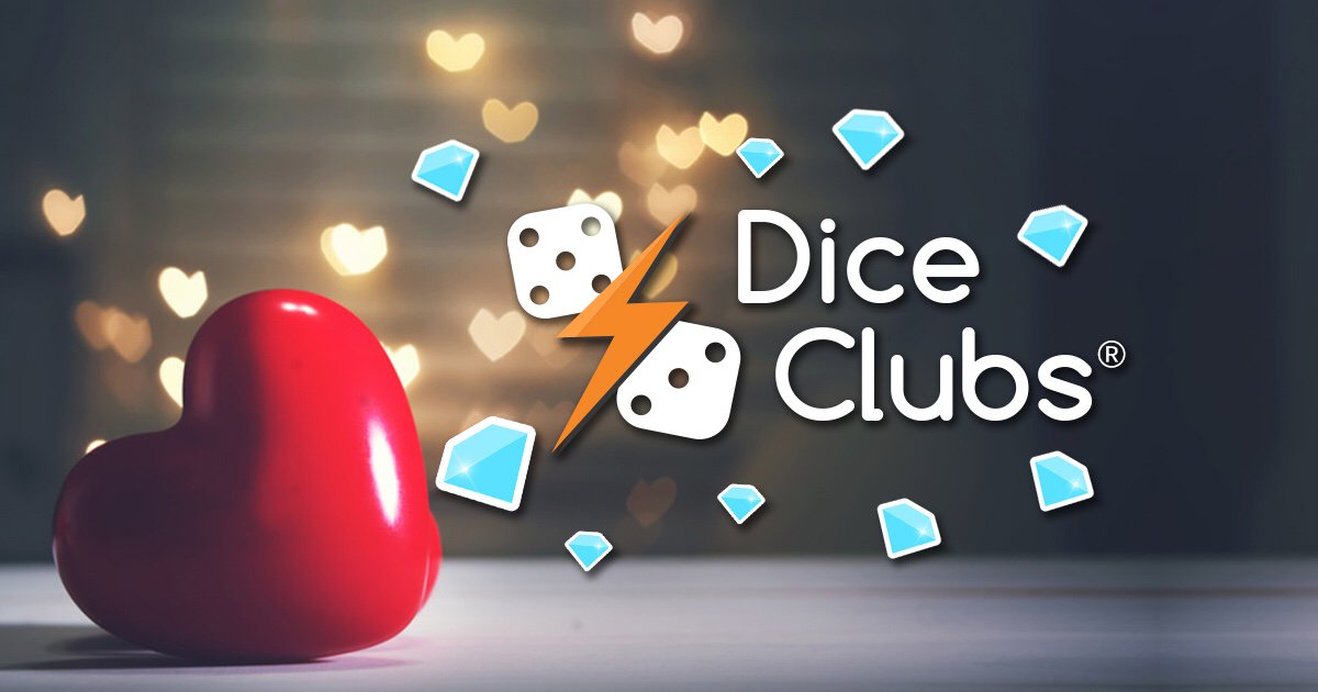 Dice Clubs is a great game! I&#39;ll get 100 Diamonds for saying it.  https:// diceclubs.com  &nbsp;   #diceclubs #diceduel #valentinesday #love #heart<br>http://pic.twitter.com/oxgWByUqJB