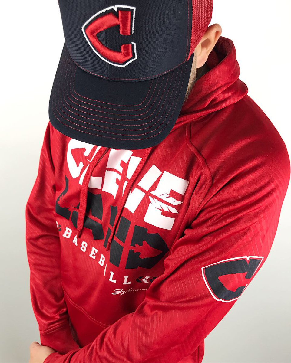 c3e0a883 ... and new Cleveland Baseball design on the front. Complete with zip up  front pocket! Grab our brand new Arrowhead C logo two tone mesh hat to go  with ...