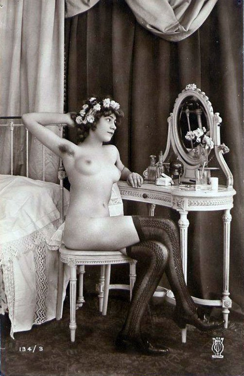 Late victorian erotic photographs of women dancing with skeletons