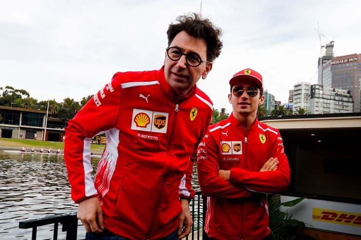 Mattia Binotto on @Charles_Leclerc: I'm happy with the way [Charles] has adapted not only as a driver but also proved he is a team player. He has been very helpful, working constantly with engineers to improve the car, always pushing hard.   #F1 #Charles16<br>http://pic.twitter.com/Hk4Gcvu85V
