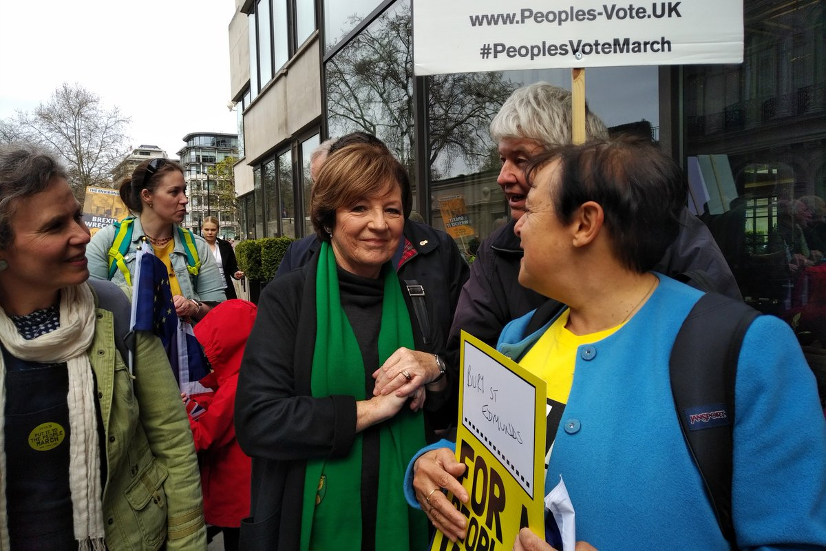 Delia Smith has sponsored places on our coach from #BuryStEdmunds to #PutItToThePeople to march for #PeoplesVote We met Delia to say HUGE THANK YOU!!! @Jochurchill4<br>http://pic.twitter.com/dgof5ARyqZ