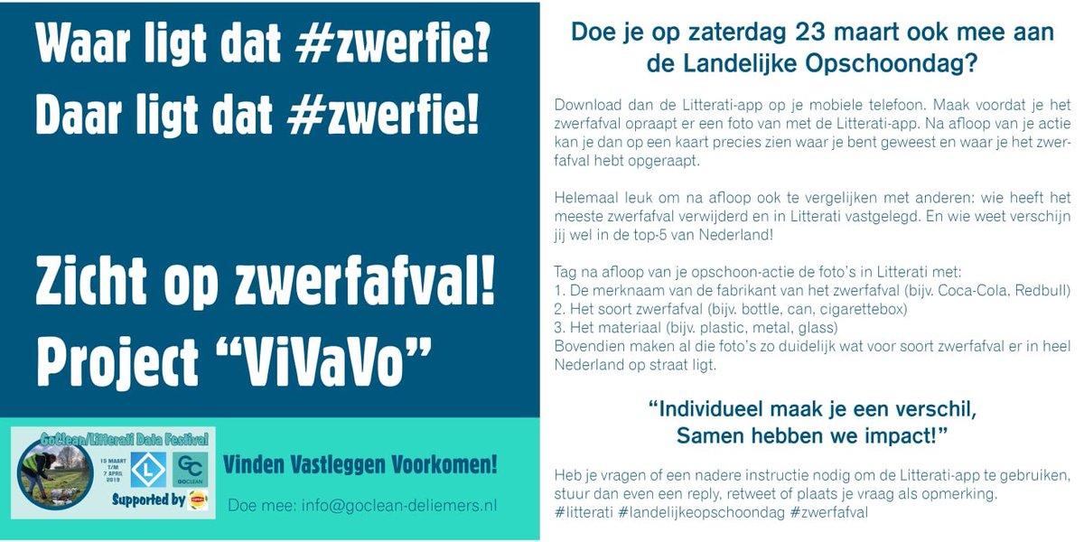 test Twitter Media - Doe je op zaterdag 23 maart ook mee aan de @nederlandschoon #LandelijkeOpschoondag? Download dan de @litterati app op je mobiele telefoon.  Maak voordat je het zwerfafval #zwerfie opraapt er een foto van met de Litterati-app. #gldatafestival #litterati #schoonwandelen #data https://t.co/ym0bP5tsyY