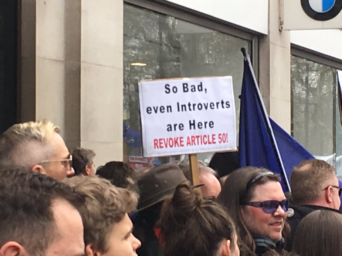 So bad even introverts are here #peoplesvotemarch #putittothepeople<br>http://pic.twitter.com/bbnfTRVwjN