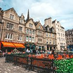 Image for the Tweet beginning: The famous Grassmarket area of