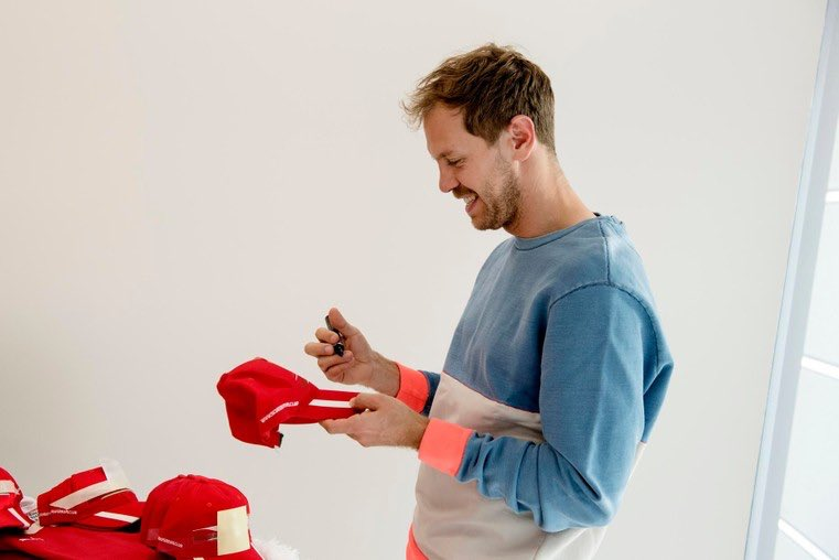 Sebastian Vettel in Maranello on Friday signing the items from the Scuderia Ferrari Clubs   #F1 #Seb5<br>http://pic.twitter.com/TPT8E6gmmH