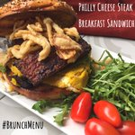 """😋Philly Cheese Steak Breakfast Sandwich: Super delicious and flavorful sandwiches. Toasted thin bagel filled with steak marinated tempeh, chickpeas """"cheesy"""" omelet, and crispy onions is the perfect way to start your day! 👉Order Link In the Profile #chipandkale #vegan #mealkits"""