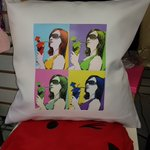 Image for the Tweet beginning: Personalised cushions make great Mother's