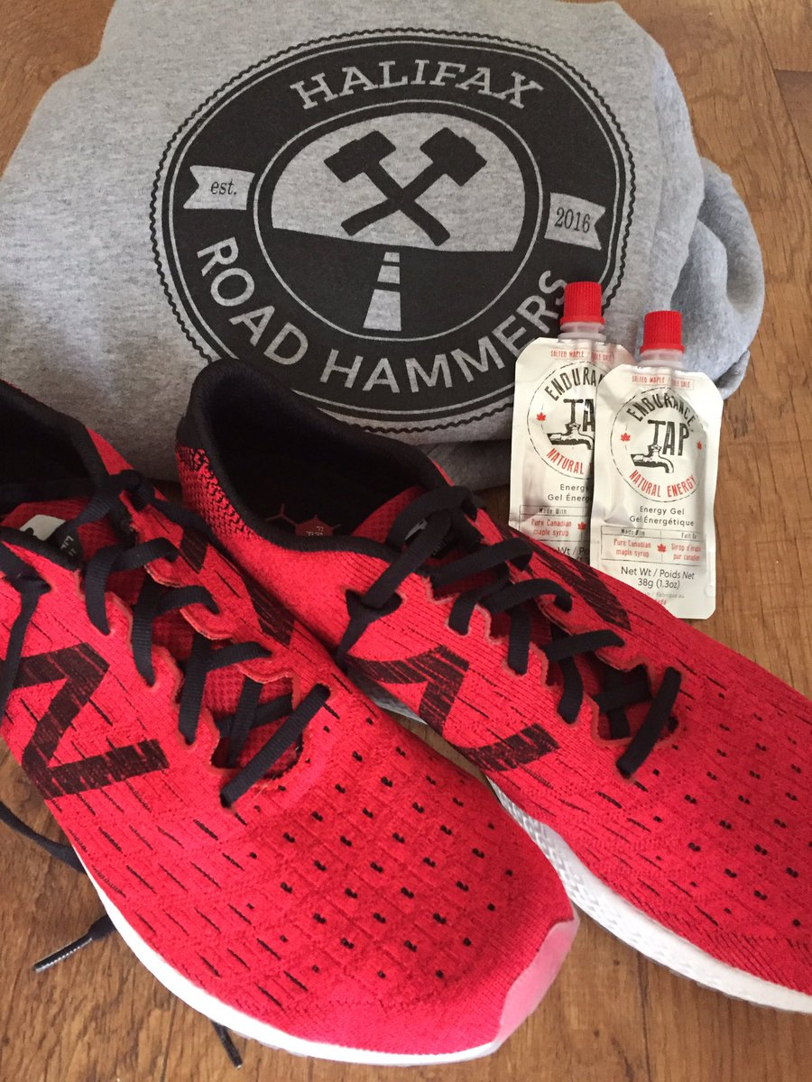 Thanks to @endurancetap for fuelling this mornings workout with the @hfxroadhammers ! My first run in the @NewBalanceCan  Zante Pursuits and I love them!<br>http://pic.twitter.com/jmBxtkJIeF