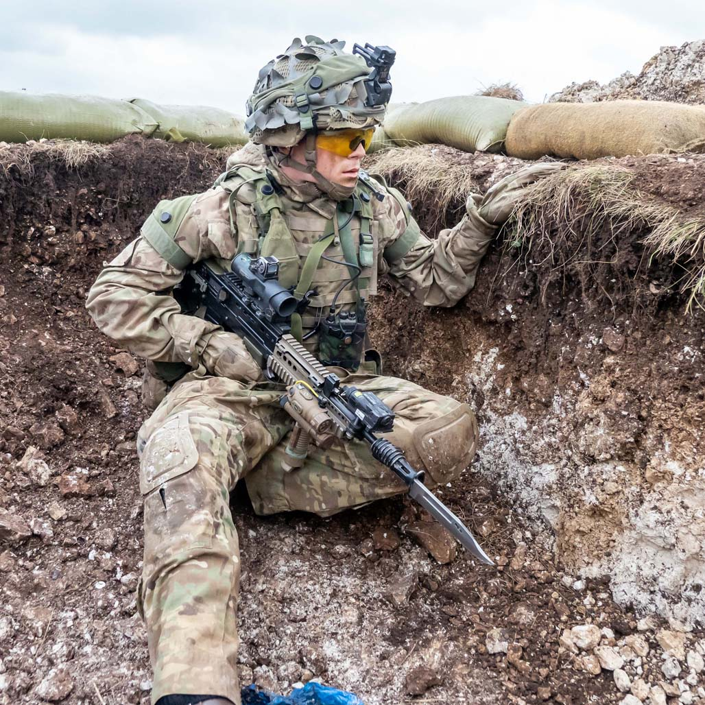 Soldiers of 2nd Battalion The Yorkshire Regiment in action on Exercise Wessex Storm on Salisbury Plain Training Area. Experts in dismounted close combat, 2 YORKS have set the Army standard for Light-Mechanised Infantry.  Learn more: http://bit.ly/2Fh5px9  Images Nigel Gidney