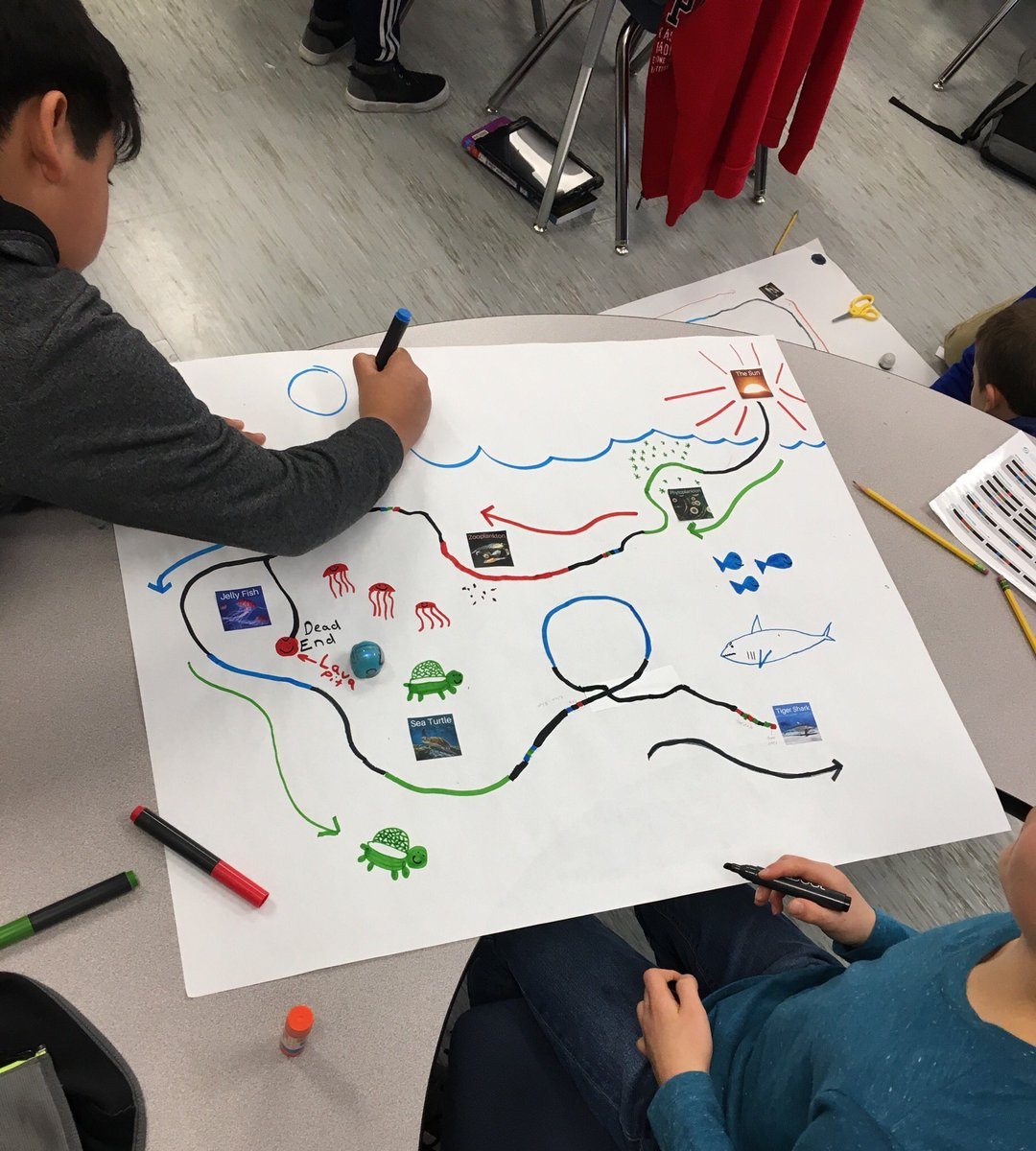 Ozobot Food Chain Challenge: <a target='_blank' href='http://twitter.com/OhmerNation'>@OhmerNation</a> students used <a target='_blank' href='http://twitter.com/Ozobot'>@Ozobot</a> to show us what they know about food chains, energy flow, &amp; coding <a target='_blank' href='http://search.twitter.com/search?q=APScodes'><a target='_blank' href='https://twitter.com/hashtag/APScodes?src=hash'>#APScodes</a></a> <a target='_blank' href='http://twitter.com/AbingdonGIFT'>@AbingdonGIFT</a> <a target='_blank' href='https://t.co/85eovNs7f5'>https://t.co/85eovNs7f5</a>
