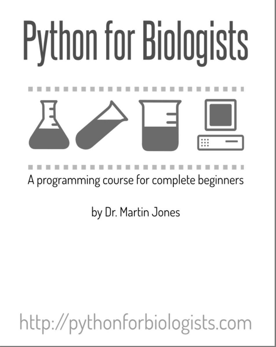 إذا كنت متخصص في أي من العلوم البيولوجية ورغبت بتعلم لغة البايثون في سياق المجال البيولوجي، هذا كتاب خصيصاً لك ومبسط ومجاني ويمكن إستعراضه عبر المتصفح: http://userpages.fu-berlin.de/digga/p4b.pdf مصدر الكتاب كذلك يحتوي على نصائح ومعلومات ودروس جيدة لمن يرغب في تعلم البايثون: http://pythonforbiologists.com