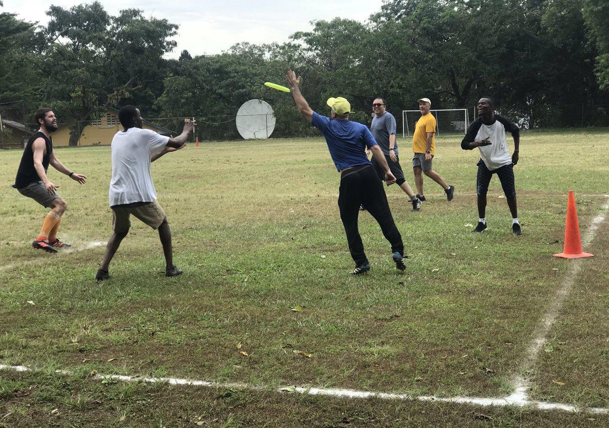 Saturday ultimate frisbee fun @TASOKinshasa - but was it a score?!?