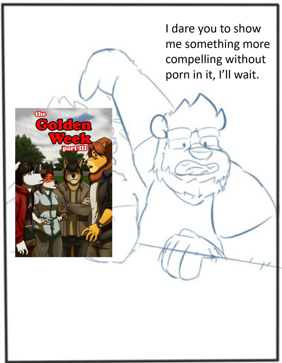 So me and @SnapRegsting are doing our next strip of Bear Arms Apts and this panel makes a perfect meme, so presenting Critical Kristof. He points out logic on bullshit!! Memes of comics and artist @Douglas_Kims and @dark_king999 and @gabshiba  #furryfandom #furryartist #furry <br>http://pic.twitter.com/nODe2KTFbq