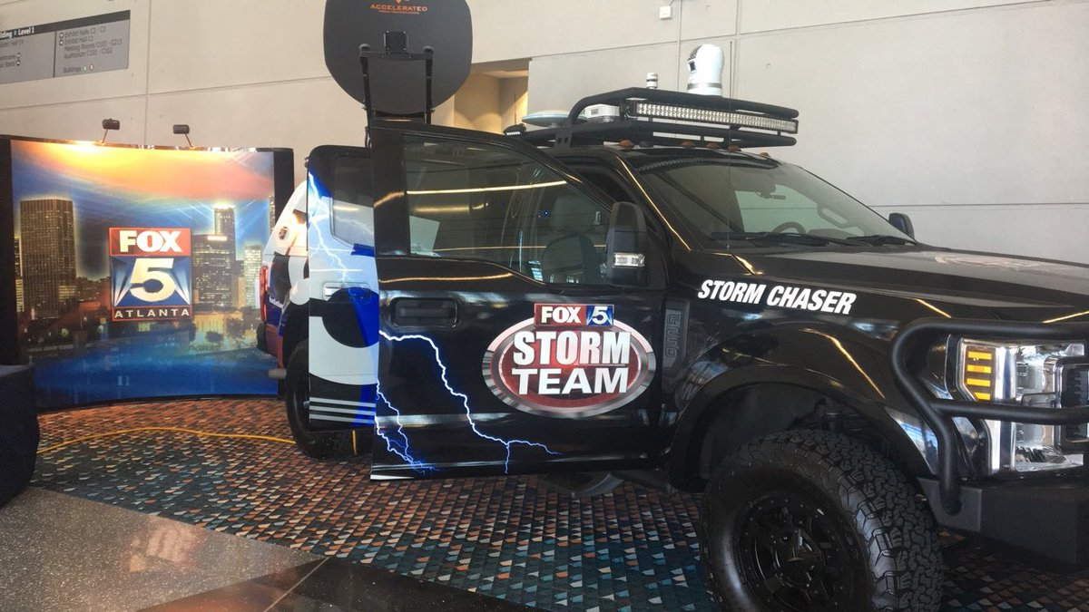 Come check out the @FOX5Atlanta Storm Chaser at the @ATLAUTOSHOW I'll be here until 1pm!