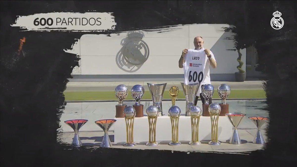 """💬 @pablolaso: """"Estar 600 partidos con el @RMBaloncesto significa que la gente valora tu trabajo"""". #HalaMadrid"""