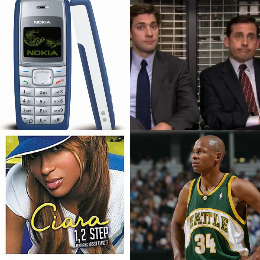 """Last time LeBron missed the playoffs: - The best selling phone was a Nokia 1110  - The Office was just a few weeks old - """"1, 2 step"""" by Ciara was one of the songs dominating charts  - The SuperSonics were still a thing.  - There was no Twitter or Instagram."""