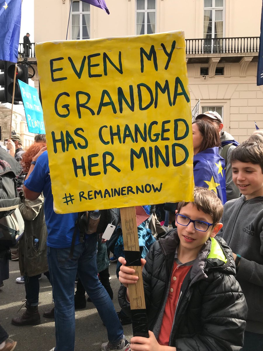 Favourite sign today! #PutitTothePeople #PeoplesVote