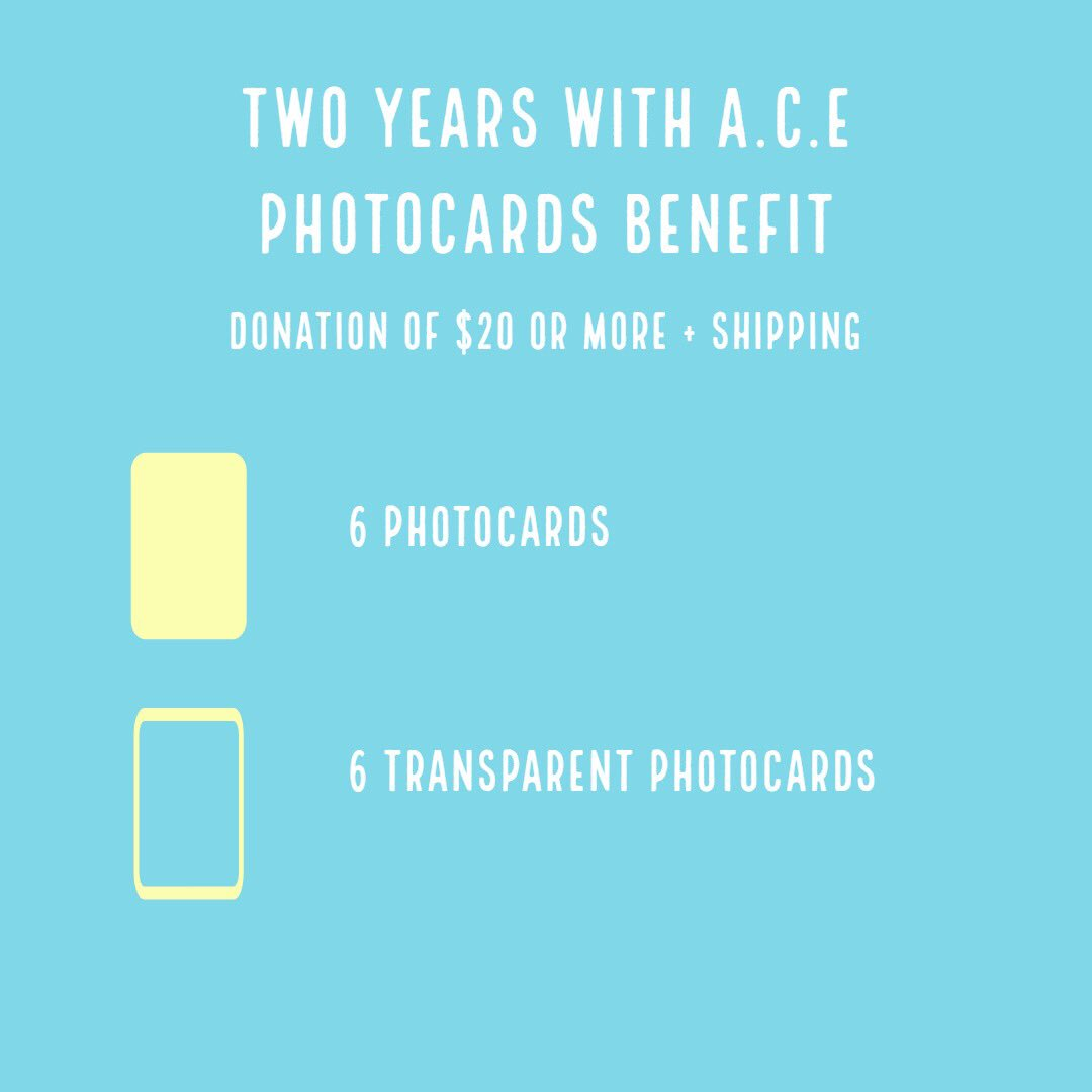 #2YearsWithACE  We are once again raising money to gift A.C.E a Seoul subway ad for their second anniversary on May 23, 2019!  We will be revealing the photocards specially made for this project over the next few weeks <br>http://pic.twitter.com/SSZ8FAmNwN