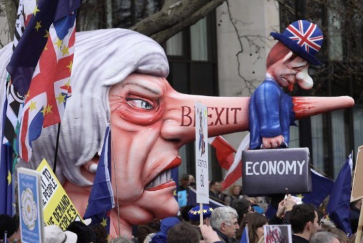 Hunderttausende demonstrieren in London gegen den Brexit