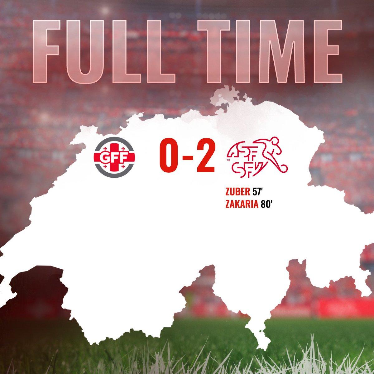 Die Schweiz gewinnt in Georgien mit 2:0 La Suisse s'impose 2:0 en Géorgie La Svizzera vince 2:0 in Georgia  #GEOSUI #EURO2020 🇨🇭⚽️💪 #HoppSchwiiz #HopSuisse #ForzaSvizzera #HopSvizra