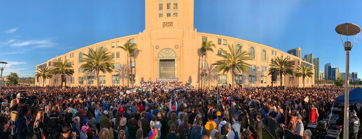 No one president, not even the most honest, well-intentioned person, can take on all the special interests and powerful forces alone. That's why this movement is not just about me. It's about us. Thank you San Diego!