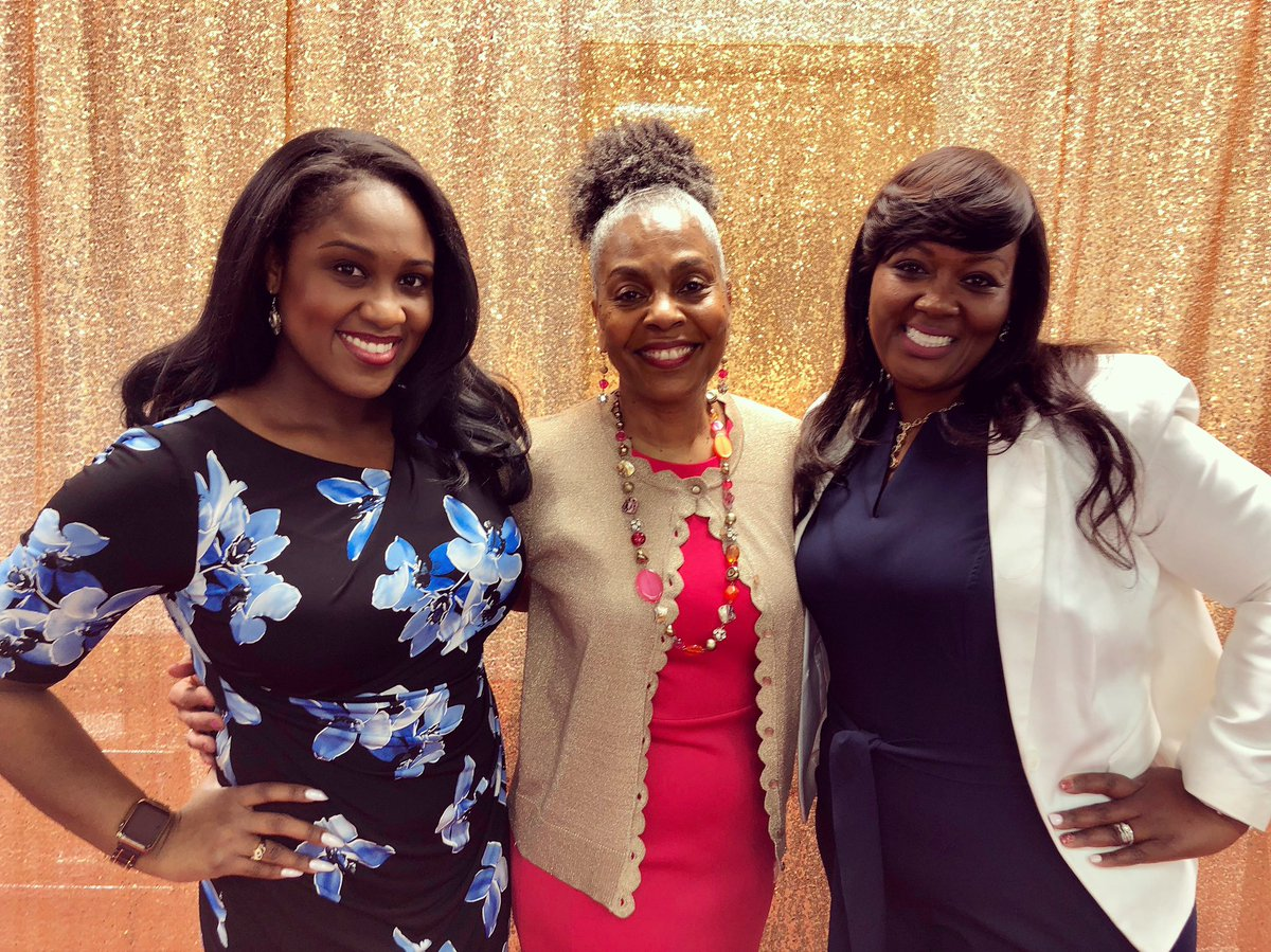 In Portsmouth this afternoon to emcee the Girls with Goals Alliance #OpportuniTea ! Pictured with founding Board President Tina Lea and keynote speaker Dr. Narketta Sparkman-Key! #celebrating10years  #TheJourneyUpSTREAM
