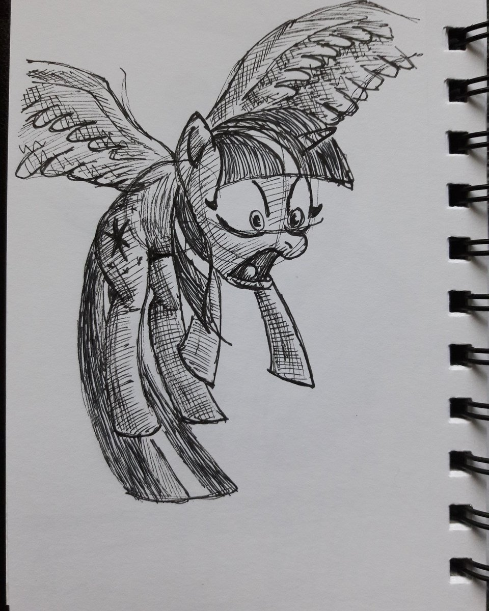 22 March 2019  Twily acting like a scaredy cat.  Probably saw a ladybug or quesadilla or something.  (4&quot; x 6&quot;)  #drawing #sketch #art #mydrawing #mysketch #MLP #MLPFiM #fanart #artistsontwitter<br>http://pic.twitter.com/d69sxohpzO