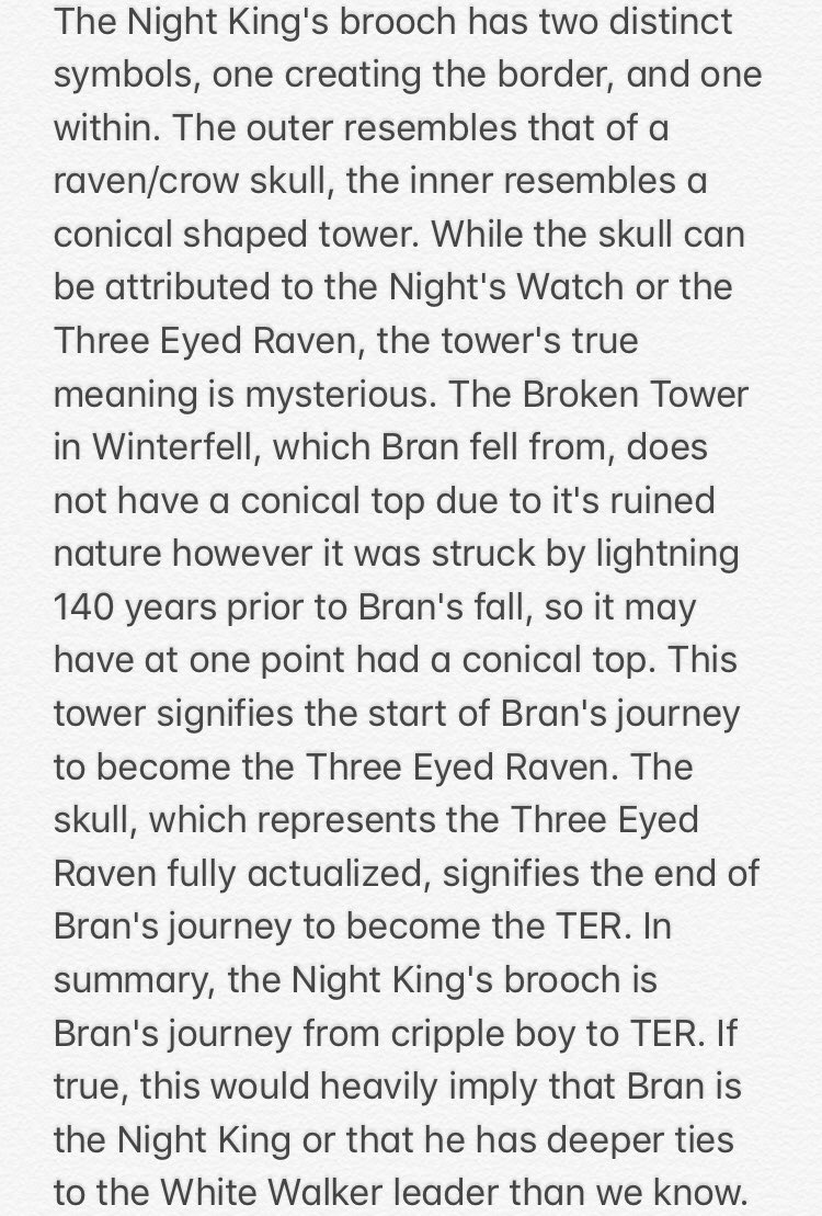 My #GameOfThrones  theory on the meaning behind the brooch the #NightKing  wears:<br>http://pic.twitter.com/FfEAaBsAyO