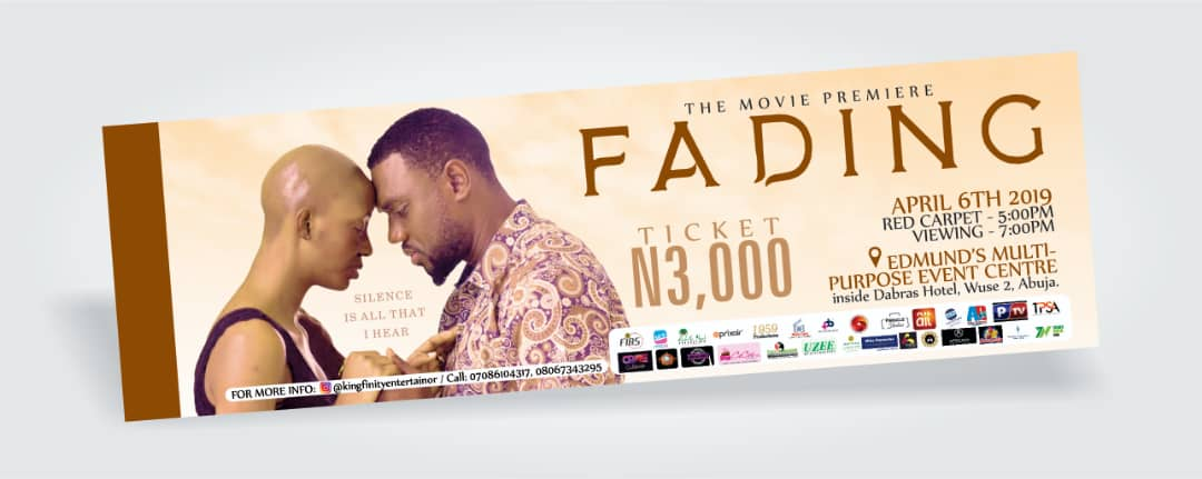 If you're in #Abuja, pls stop come for the #Premier of #FadingtheMovie on  6th April and you are gonna thank me for this... God bless you all.  Pls retweet for your friends in Abuja to see it. Thanks pic.twitter.com/eDSVZ0l1T5