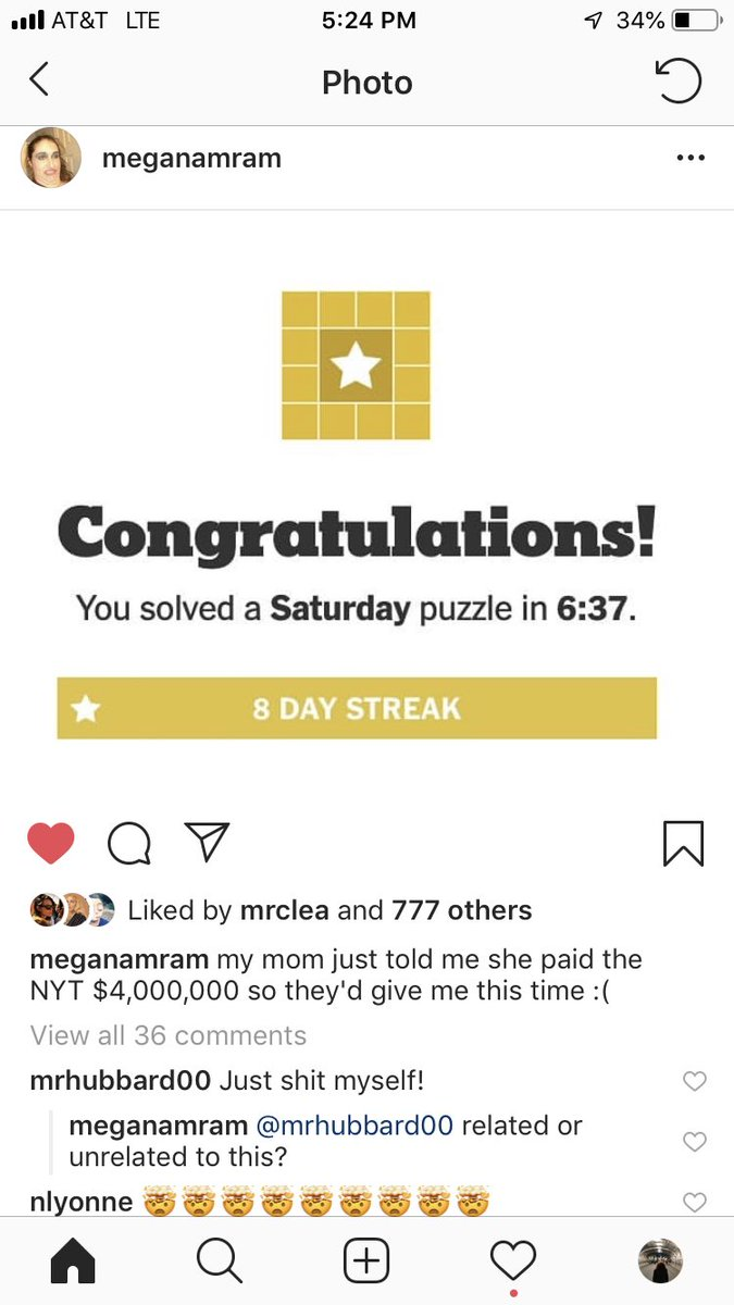 ⁦@meganamram⁩ is this real i want a statue of you in my home I can pray to ⁦@NYTimesWordplay⁩