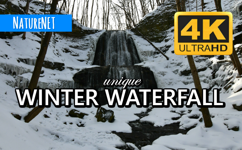 4K Winter Falls   Relaxing Nature Sounds https://buff.ly/2UNHUCB  #study #chill #relax #sleep #waterfall #4K #nap #meditate #nature