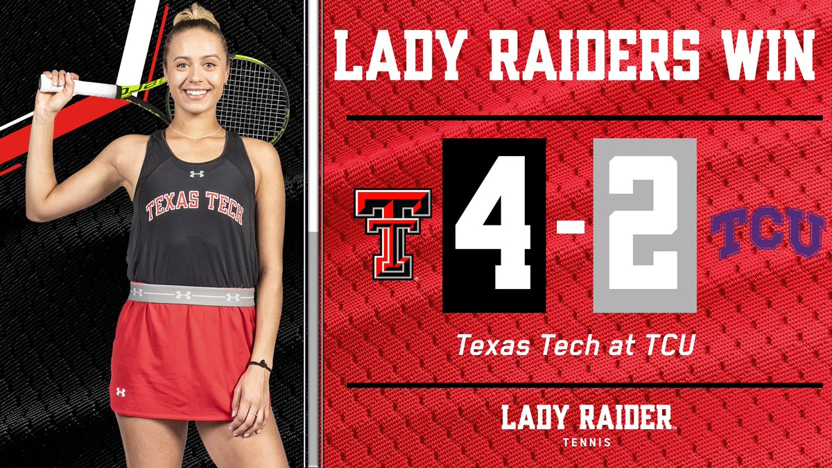 LADY RAIDERS WIN! Texas Tech defeats TCU, 4-2, to stay undefeated in Big 12 play.   #WreckEm<br>http://pic.twitter.com/Ag3QhQVAxg