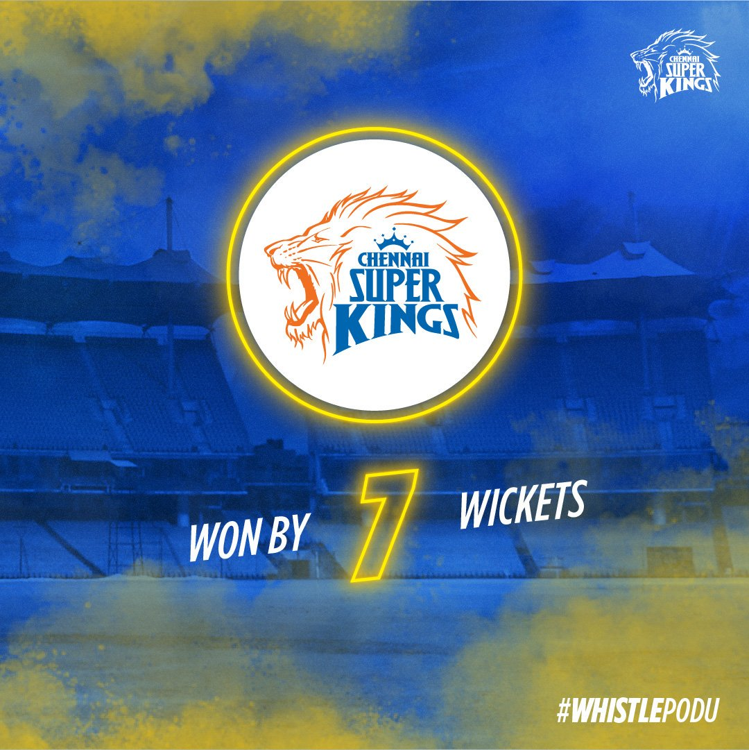 The lions with a roaring win to start off the #SummerOf19! #WhistlePodu #Yellove #CSKvRCB <br>http://pic.twitter.com/goAMuFlkkH