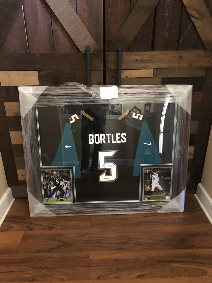 Shoutout to @pbautographs and @BortlesFacts for the Bortles Jersey! #Jaguars #B2Bomber