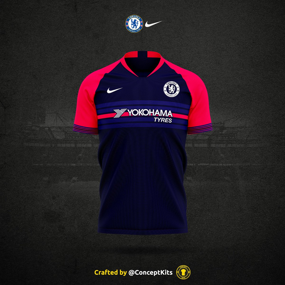 detailed look ef1f5 a7e4c Chelsea Football Club third kit concept for the 2019/20 ...