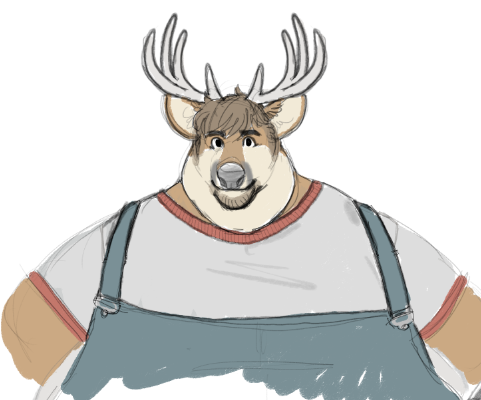 draft sketch for @silent_iron   Big deer bubba comin&#39; very soon<br>http://pic.twitter.com/rLqqlYBIsY