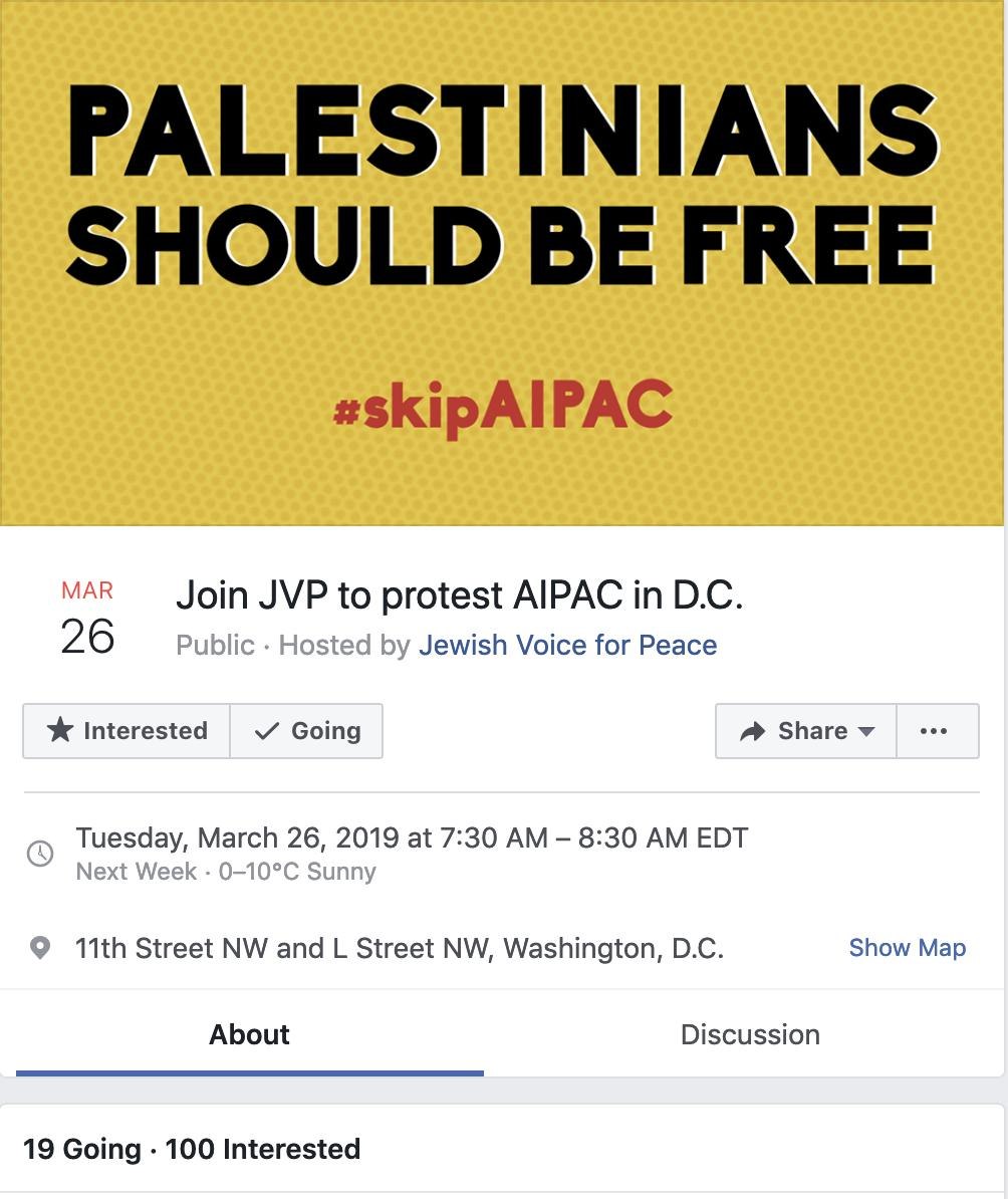 Following on from the earlier thread about @codepink even a cursory look at the people listed as attending the @jvplive demonstration planned for @AIPAC conference shows an antisemitism problem.