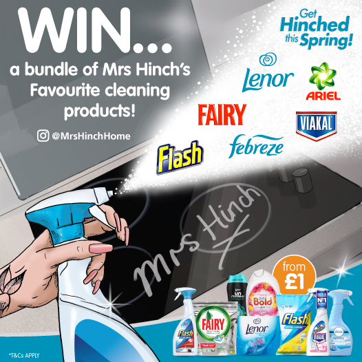 #COMPETITION TIME   We&#39;ve teamed up with @PGUK and @mrshinchhome to giveaway a bundle of her FAVOURITE cleaning products!  For your chance to #WIN, simply FOLLOW, RETWEET AND COMMENT &quot;which&quot; cleaning job you enjoy doing the most!  Competition ends 9am 29/3/19 <br>http://pic.twitter.com/d7Bqu2LjXF