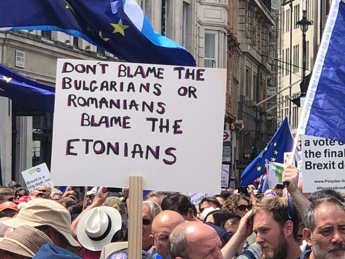 The banner of the march