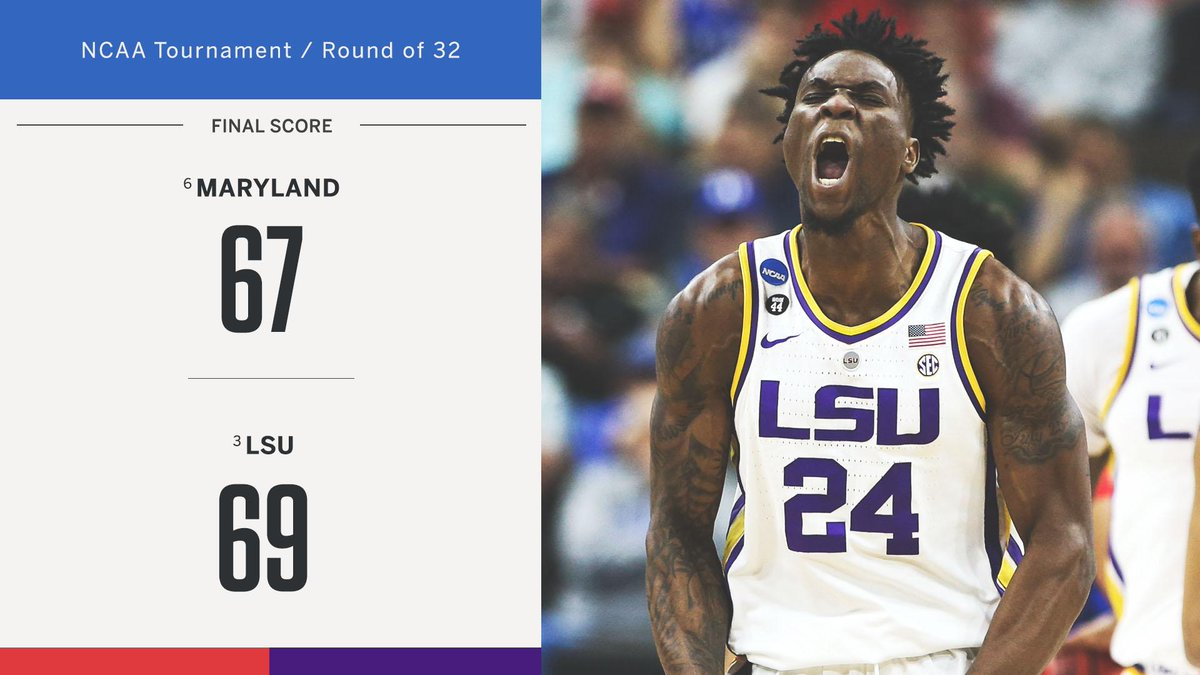 SportsCenter's photo on LSU to the Sweet 16