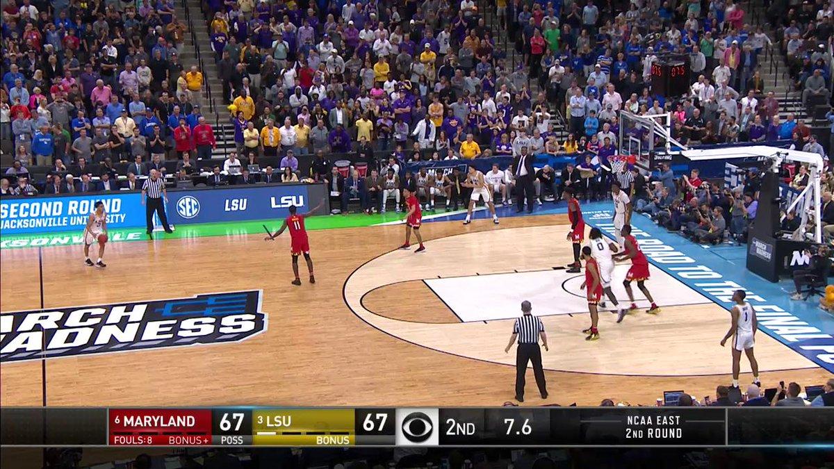 Sweet 16: LSU beats Maryland on best shot of the tournament, then salutes fallen teammate