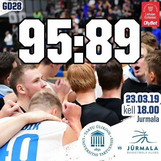 test Twitter Media - SUPER! Mängus, kus võitu oli vägaväga vaja, tegi meeskond väga head tööd ja võttis BK Jūrmala vastu 95:89 võidu.  Kregor Hermet tabas kuus kaugviset ja kogus 34 punkti, Arnas Velicka viskas seitse kolmest ja lõpetas 33 punktiga.  #unitartubasket #tartuül… https://t.co/bXbB6kGP9F https://t.co/4t2Zai7dk3