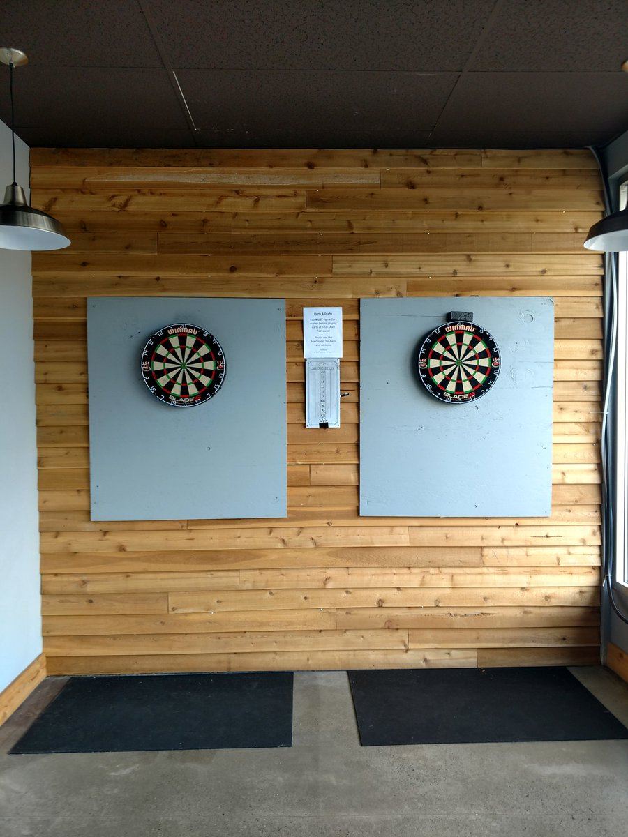 Hey all, did you know we have the real-deal darts in our backroom? Grab your friends and play a few games!! #SaturdayFunday #VanWa<br>http://pic.twitter.com/0kFnwaf3r8