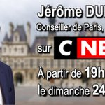 Image for the Tweet beginning: Invite de @CNEWS dimanche 24