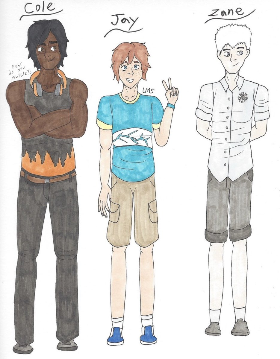 And here's some more designs from my Oni AU! #LEGO #Ninjago #colebrookstone #jaywalker #zanejulien