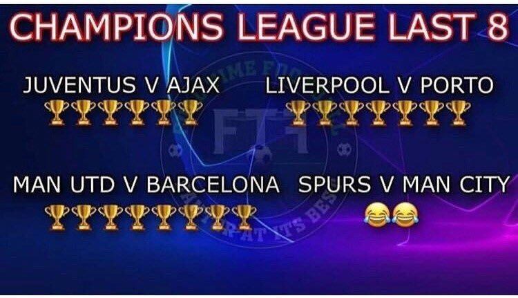 Draws made based on trophy account.  #UCLdraw