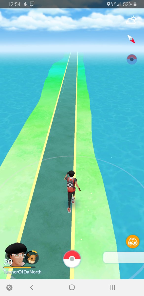 Guys I think I found the path to Shaymin in Pokemon Go <br>http://pic.twitter.com/XvaYy36Jto
