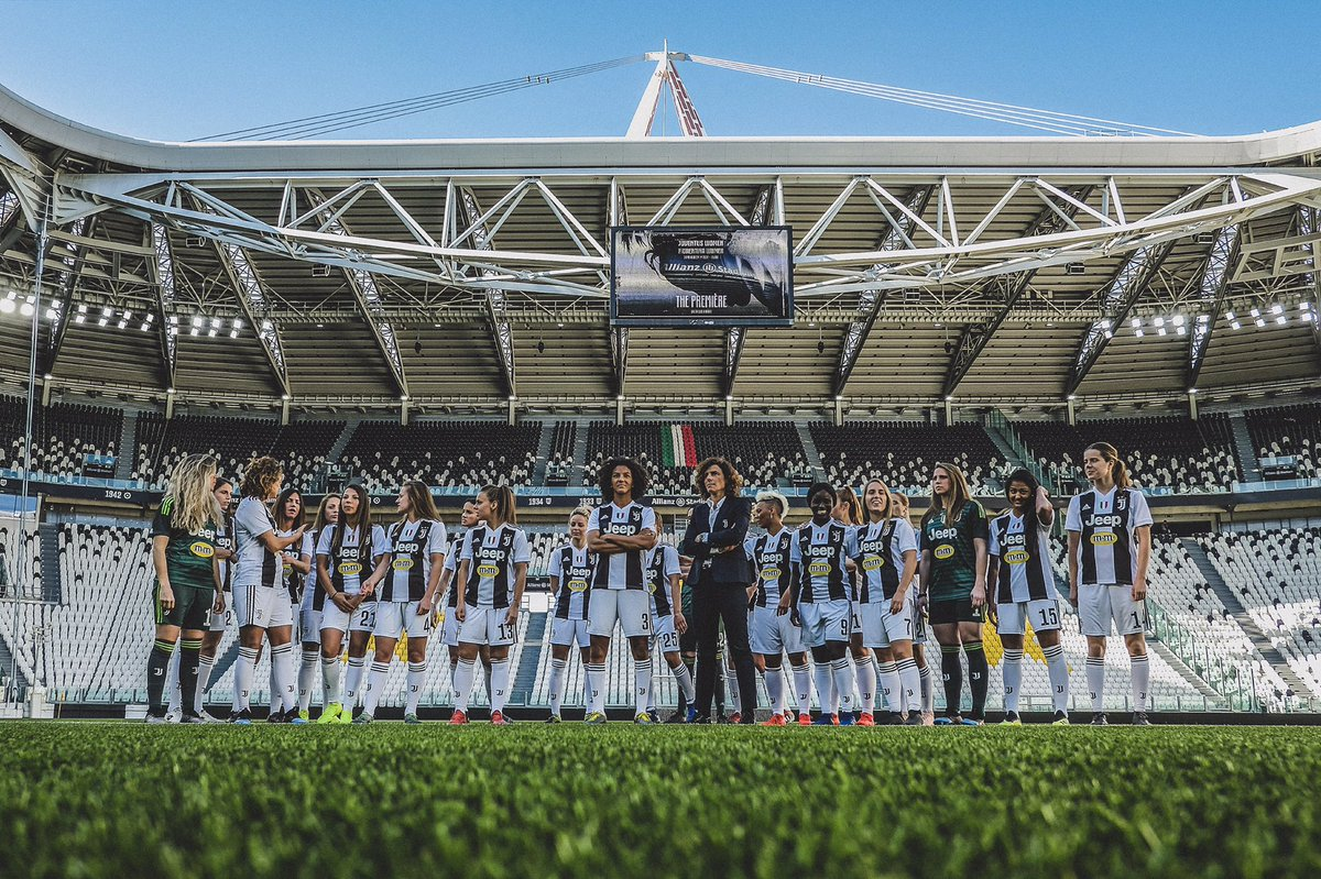 🏟 Tomorrow, @JuventusFCWomen will play at the Allianz Stadium for the first time.  ⚽️ Their game vs @ACF_Womens at the 39,000 seater stadium is SOLD OUT.  👏 Incredible support.