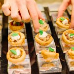 Image for the Tweet beginning: Our creative canapés are the