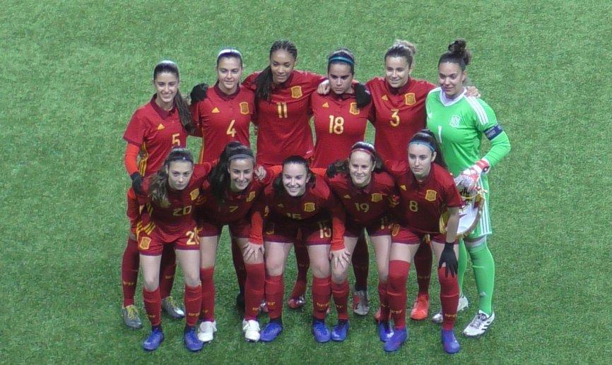Once inicial de España sub 17, con Teresa Mérida (Foto: SEFF).